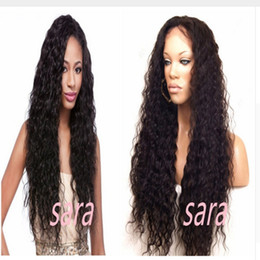 Wholesale Top Selling Lace Front Wigs - Free shipping Top Quality High Selling Kinky Curl Wig Kinky Curly Synthetic Lace Front Wig Long Fluffy Wigs For Black Women