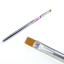 Wholesale Paint Pen Nail Art - Wholesale- 1pcs Hideaway Sable Detachable UV Gel Acrylic Nail Painting Brush Nail Art Drawing Tool Builder Pen