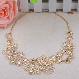 Wholesale Cheap Vintage Jewelry For Sale - Wholesale-Cheap Sale Fashion Jewelry Vintage Necklaces Multilayer Hollow Flowers Pendant Necklace Chain For Women MPJ461*58