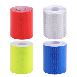 Wholesale Adhesive Cars - 5cmx3m Safety Mark Reflective Tape Stickers Car Styling Self Adhesive Warning Tape Automobiles Motorcycle Reflective Film 4color