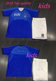 Wholesale Mario Football - KIDS Italia Soccer Andrea Pirlo Jersey 2017-18 Italy Football Shirt National Team Personalized 1 Gianluigi Buffon 9 Mario Balotelli