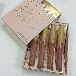 Wholesale Nude Lipgloss - Kylie Jenner Send Me More Nude 4pcs Set Nude Liquid Lipsticks 4 Color Matte and Velvet Lipgloss By Kylie Cosmetics Drop Shipping