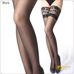 Wholesale Cheap Hosiery Wholesale - Wholesale- Hot Sale!! Cheap Woman Sexy Stockings Sexy Woman Sheer Lace Top Thigh High In Stocking & Hosiery erotic Lingerie 6 Colors