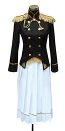 Japão vestidos de festa on-line-Terno Kukucos Anime Womens APH Axis Powers Hetalia Japão Vestido Uniform Cosplay Halloween Party