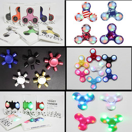Wholesale China Wholesale Kids Toys - Fidget Spinners Hand Spinner China Toys Bearings Wholesale Fingertips Led Camouflage Metal Spiral Fingers EDC Decompression Gyro Toy