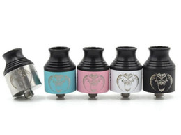 Wholesale Cheap Wholesale Ecigs - Cheap Baal V2 RDA Atomizers Rebuildable ecigs atomizer 510 Wide Bore Drip Tip 5 Colors 3mm Post Holes Airflow Control PEEK Insulator