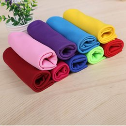 Wholesale Cool Decks - Solid Color Double-deck Ice Towel 30*90cm Multi-use Enduring Instant Cooling Towel Heat Relief Reusable Cold Towel 9 colors