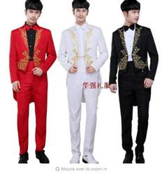 Wholesale Long Coat Dress For Men - Tuxedo blazer men formal dress latest coat pant designs suit men costume homme terno masculino wedding suits for men's stage