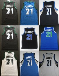 Wholesale Shirts Basketball - Throwback Kevin Garnett Rookie Basketball Jerseys 21 Kevin Garnett The Big Ticket Shirts Vintage Retro Black Stitched Mens Cheap Jerseys