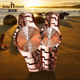 Wholesale New Pair Couple Watch - 2017 Luxury Brand Lover Watch Pair Waterproof Noctilucent Men Women Couples Lovers Watches Set Wristwatches Relogio Feminino