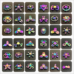Wholesale Wholesale Metal Spinning Top - Retail 48 types Fidget spinner toys Rainbow Fidget Metal Hand Colorful EDC Gyro Toys HandSpinner Aluminum spinners finger top spinning Toy