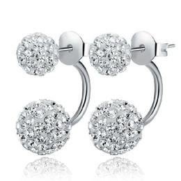 Wholesale Good Crystal Chandelier - 925 Sterling Silver Shambhala Ball Earrings AAA Rhinestone Party Stud Earring Jewelry for Women with Crystal CZ Diamond Good Earrings 170782