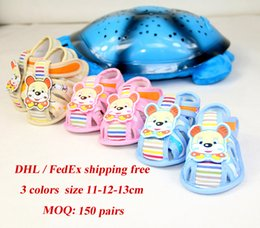 Wholesale Fedex Shipping Slip - DHL FedEx free shipping Baby Shoes 2017 Summer Breathable anti slip Shoes Cartoon pattern Sandals For Babies infant Walk Shoes First Walkers