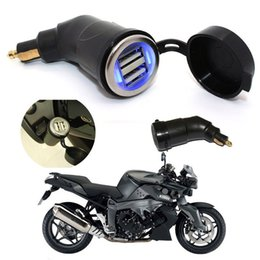Wholesale Bmw Dual - New high quality Motorcycle Power Adapter Dual USB Charger Din Plug For BMW Hella Powerlet 2016