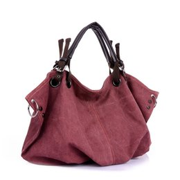 Wholesale Body Trends - Wholesale- 2016 Fashion Retro Trend Hobos Canvas Ruched Casual Messenger Handbag Simple Wild Cross Body Bag Casual High-capacity Bag