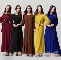 Wholesale Dubai Women Clothing - New Muslim abaya dress for women Islamic dresses dubai Islamic clothing Muslim kaftan abaya Dress turkish jilbab hijab