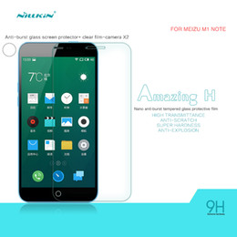 Wholesale Blue Protective Film - Original Nillkin Amazing H anti-explosion glass screen protective film for MEIZU The charm of blue note(M1 NOTE)with retail package