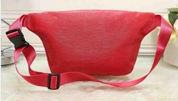 Wholesale Leather Fanny Packs - men bags Unisex Men Women leather Sport Runner Fanny Pack Belly Waist Bum Bag Fitness Running Belt Jogging Pouch