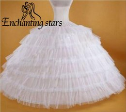 Wholesale tulle crochet - 2017 Super Puffy Petticoats 7 Layers Tulle For Ball Gown Weddings Evening Prom Party 125mm Diameter Bottom Free Size Bridal Underskirts Gown