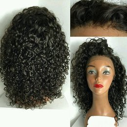 Wholesale Large Cap Remy Wigs - Wholesale Full Lace Wigs 100% Virgin Remy Curly Human Hair Wigs medium Browm Color Cap In Stock Lace Wigs With Baby Hair