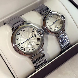Wholesale lady small watch - Classic Style Lady watches Luxury Women Men Wristwatches Stainless Steel Women Wristwatches Top Brand female clock Small Dials free shipping