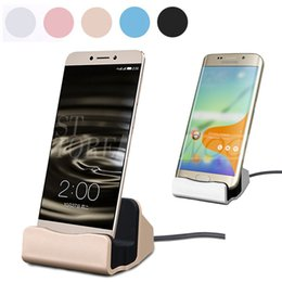 Wholesale Universal Quick Charger Docking Stand Station Chargers Cradle Charging Sync Dock Type C For Samsung S6 S7 Edge Note With Retail Box