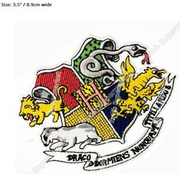 """Wholesale Wholesale School Shirts - 3.5"""" Harry Potter Hogwarts School Patch Badge Newt Scamander Fantastic Beasts and Where to Find Them shirt iron on transfer"""