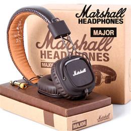 2019 microphone sans fil Marshall Major Casque Avec Micro Basse Profonde DJ Hi-Fi Casque HiFi Casque Professionnel DJ Moniteur Casque Avec Ensemble de Détail