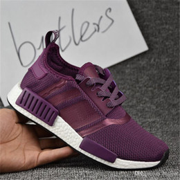 Wholesale Cheap Fashion Free Shipping - 2017 New NMD Runner Primeknit Men'S Running Shoes Fashion Discount Cheap Running Sneakers for Men and Women For Sale Free Ship With Box