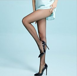 Wholesale Thin Tight Spandex - MZ Tights Women 12D Ultra Thin Cored Wire Stockings Invisible T Crotch Summer Pantyhose Multicolors