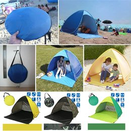 Wholesale Fast Protection One - Hiking Tents Outdoors Camping Shelters for 2-3 People 50+ UV Protection Tent for Beach Travel Lawn Excursion DHL Fedex Fast Shipping