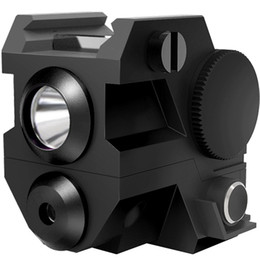 Wholesale Mounting For Laser Sights - Mini Tactical Sub Compact Rail Mount Green Laser Sight with High Lumen CREE LED Flashlight Light Integrated Combo with Strobe for Pistol