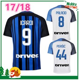 Wholesale Shirt Sport Soccer - 17 18 Inter home away 3rd jersey CANDREVA EDER ICARDI JOVETIC 2017 2018 Milan Kondogbia Jovetic Icardi sports blue white green shirts