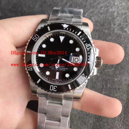 Wholesale Dive Sapphire - Top Luxury brands aaa watches for men 116610 40mm black ceramic bezel Stainless Steel Mens Automatic mechanical wristwatches male dive watch
