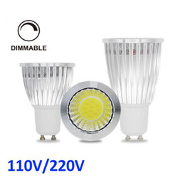 Wholesale Dimmable 12w Downlight - Super Bright Dimmable LED 9w 12w 15W COB GU10 GU5.3 E27 E14 MR16 LED Sport light lampS CREE downlight DC12V AC 110V 220V 240V Spotlight