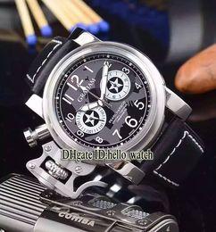 Wholesale Chronograph Watch Cheap - Super Clone Brand New Chronofighter Oversize 2CFAS.B01A.L31B 47mm Black Dial Men's Watch Chronograph Quartz Leather Strap Cheap Watches