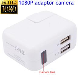 Toptan 1080 P Mini Kamera Kapalı USB Duvar Şarj Kamera Dadı Kam Hareket Algılama adaptörü ile Ev güvenlik 2 USB Bağlantı Noktası nereden