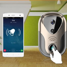 Wholesale Doorbell Dhl - Free Shipping By DHL 720P HD Wireless Doorbell Video WIFI Camera WIFI Security Monitor Door Security Camera