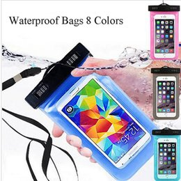 Wholesale Tpu Smartphone Case - Dry Bag Waterproof Phone Case universal Underwater 360 Degree Waterproof Smartphone Pouch 5.5inch for iPhone Samsung s8