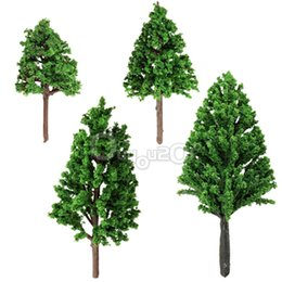 Wholesale Best Price Plastic Models - Wholesale-Best Price 20pcs Set 68mm Plastic Model Trees For Railroad House Park Street Layout Green landscape Scene Scenery High Quality