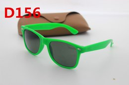 Wholesale Red Sunglasses Reflective - Europe and the United States high-end brand designer men and women fashion retro anti-reflective 54mm sunglasses and boxes