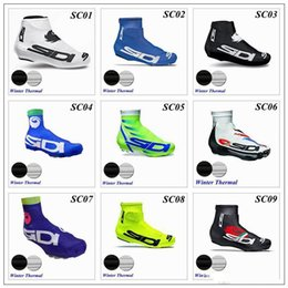 Wholesale Fleece Zip - 2017 Cycling Shoes Covers Winter Thermal Fleece 9 Colors For Men Women Bike MTB Shoe Cover Bike Accessories OverShoes