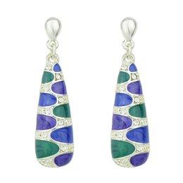 Wholesale Ethnic Style - New Coming Ethnic Style Colorful Enamel Dangle Earrings