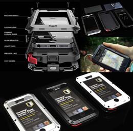 Wholesale Gorilla Cell Phone - Aluminum WaterProof DirtProof Gorilla Glass Case Skin Cover for Cell Phones Shockproof Phone Case for iPhone 6 6s 4.7 plus 7 7plus Back Meta