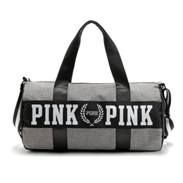 Wholesale Hip Hop Chains Black - Wholesale Women Handbags New Arrival Pink Large Capacity Travel Duffle Striped Waterproof Beach Bag Shoulder Cool Bag