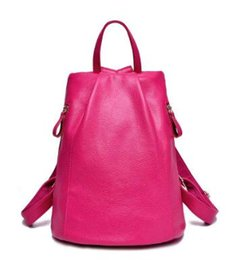 Wholesale Nice Bag Brands - New Nice Leather Backpacks Women Bags Ladies Brand Backpack Style Vintage School Bag Womenvs Backpack Cow leather double shoulder bag