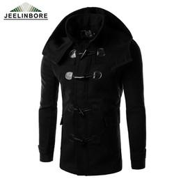 Wholesale Horn Buttons Men Fashion - Wholesale- 2016 Stylish Woolen Jacket Horn Button Men Wool Winter Coats Fashion Slim Men's Down Jacke Manteau Homme Casaco Masculino