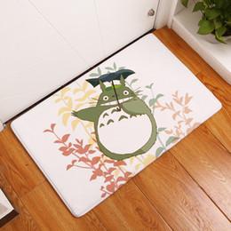 Wholesale Mattress Bedroom - Totoro Welcome Mat Flannel Mattress Kitchen Door Entrance Carpet Water Proof Non Slip Mats Floor Rug Home Decor 17 8qt F R