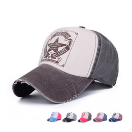 Wholesale Vintage Pink Hat - Spring Outdoor Fashion Lovers Cap Mens Womens Vintage Star Snapback Baseball Cap Sports Hats Adjustable Unisex GH-14