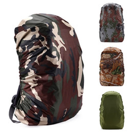 Wholesale Camouflage For Hunting - 30L-80L Backpack Dust Rain Cover Waterproof Rucksack Bag Covers Camouflage Nylon Case For Hunting Camping Hiking 100pcs Free DHL Fedex